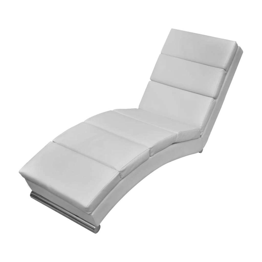 vidaXL Relaxačné ležadlo z umelej kože, biele