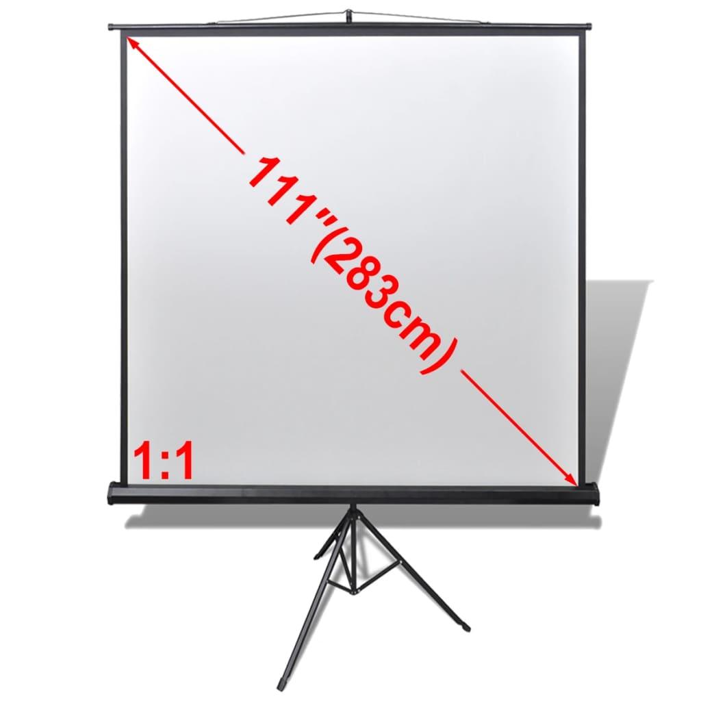 Manuálne projekčné plátno a výškovo nastaviteľný stojan 200x200cm 1:1