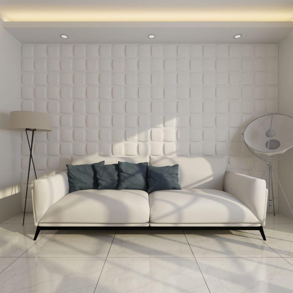 Nástenný dekoratívny panel s 3D vzhľadom 24 ks 0,5 m x 0,5 m 6 m²
