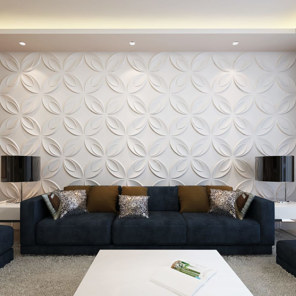 3D panel na stenu s kvetmi, 0,3 m x 0,3 m, 66 panelov, 6 m²