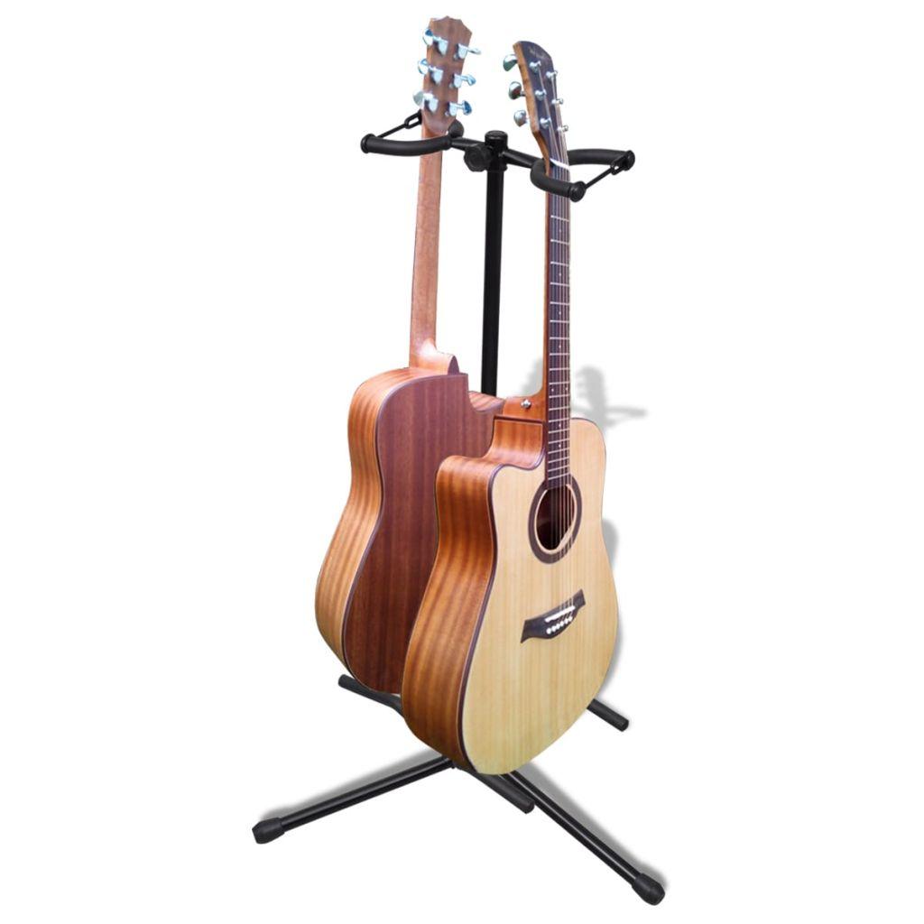 Gitarový stojan pre dve gitary skladací