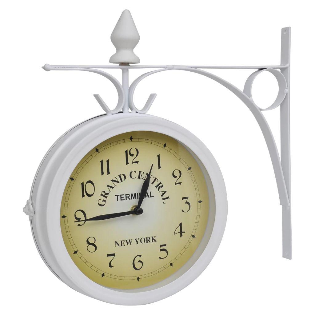 Obojstranné nástenné hodiny klasický dizajn