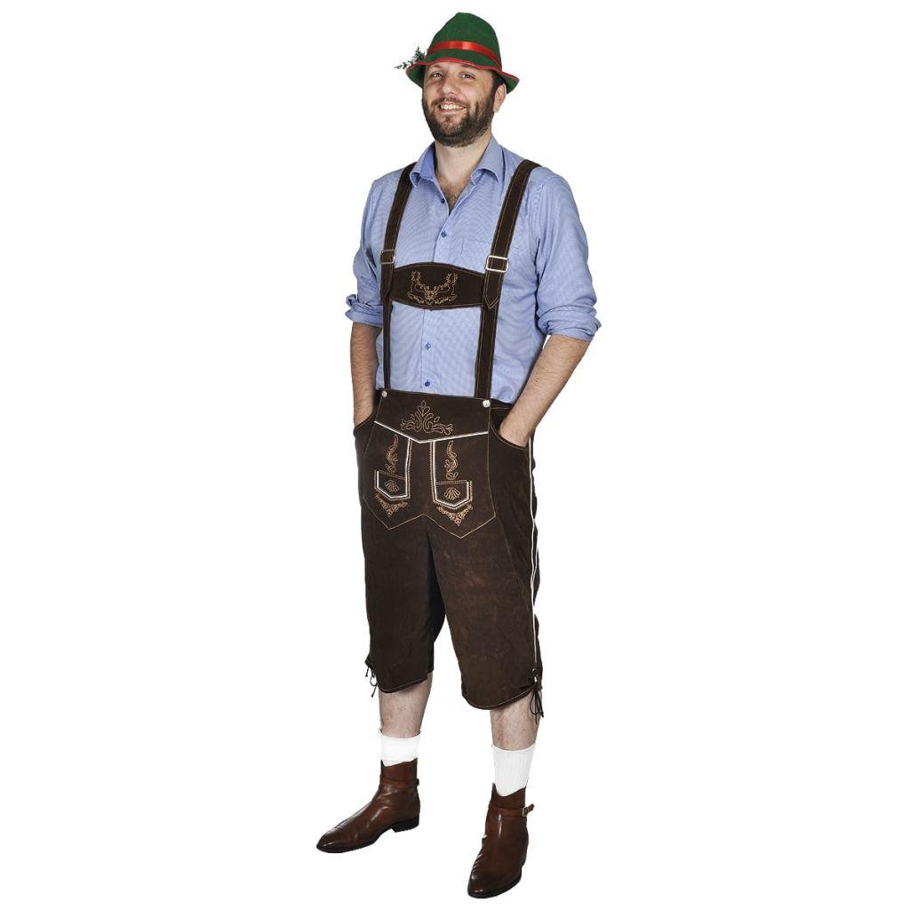 Pánsky kostým na Oktoberfest - lederhosen s klobúkom, veľkosť XXL