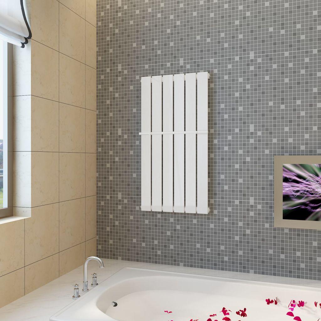 Biely vykurovací panelový regál na uteráky 465mm + vykurovací panel 465 mm x 900 mm (140635+140624)