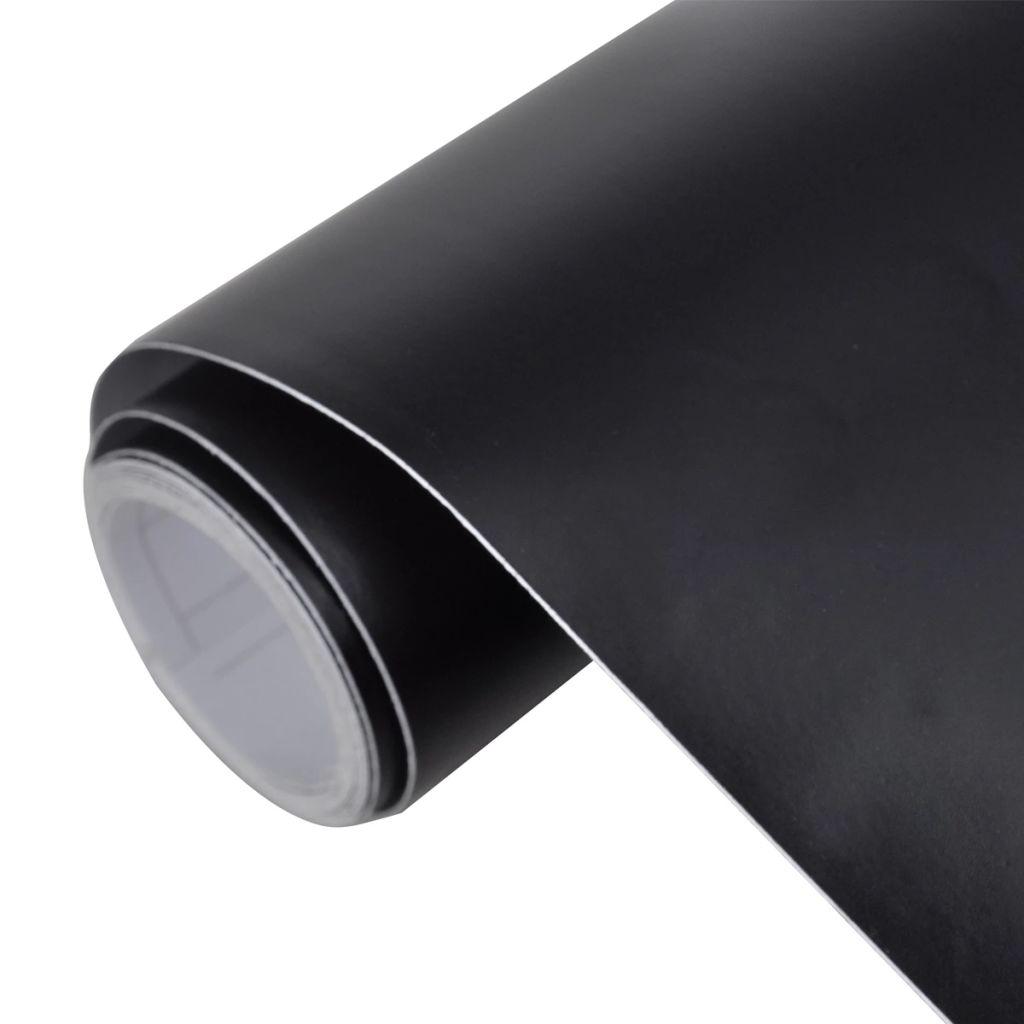 Matná čierna fólia do auta, 500 x 152, vode odolná, bez bublín
