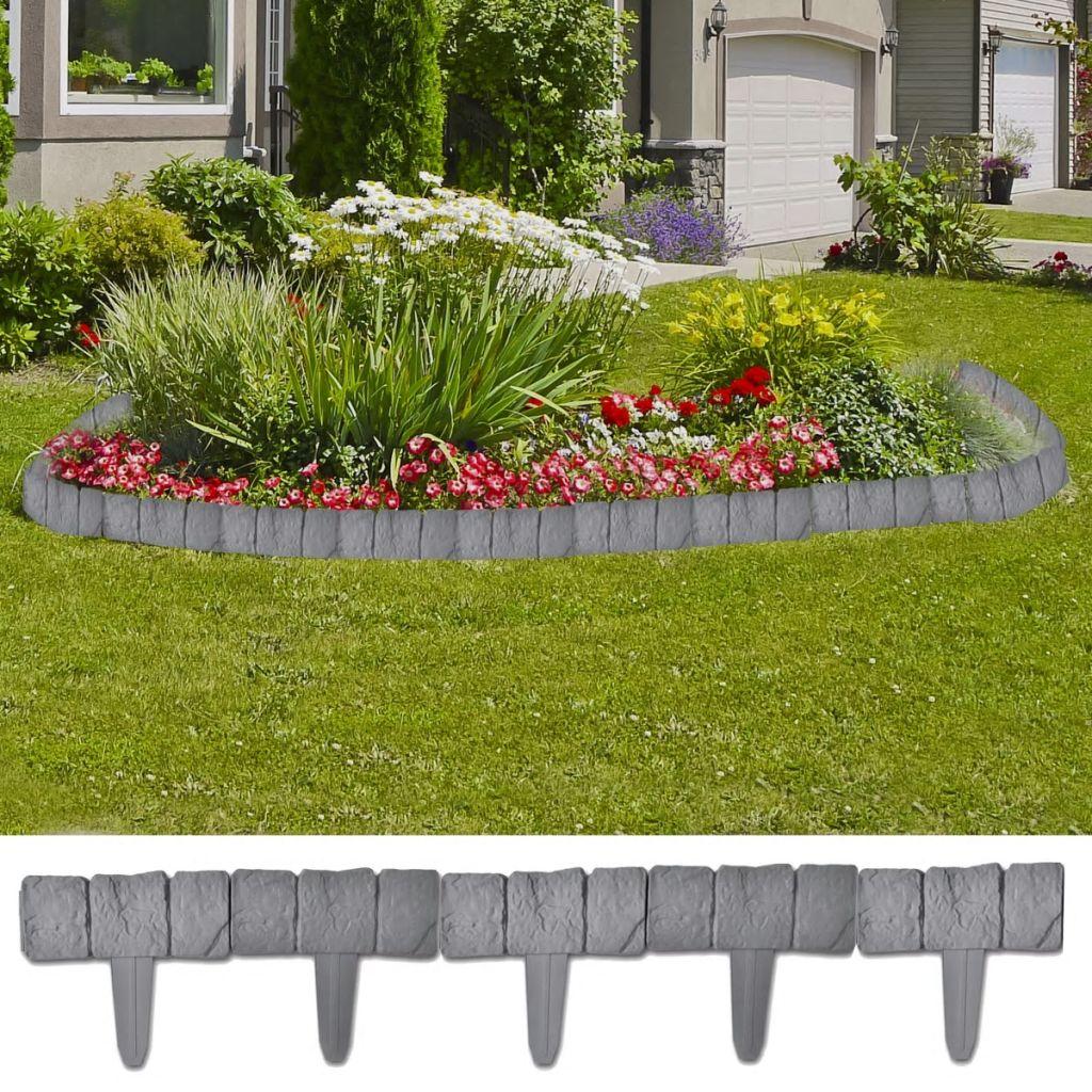 Plastový plot s kameňovým vzhľadom pre záhradu/trávnik 10 m