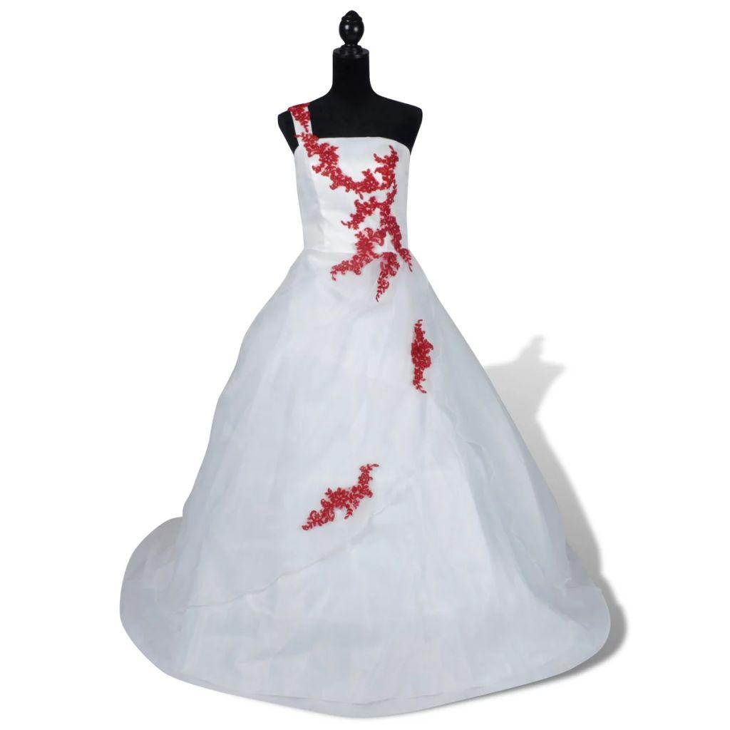 Elegantné biele svadobné šaty model A veľkosť 38