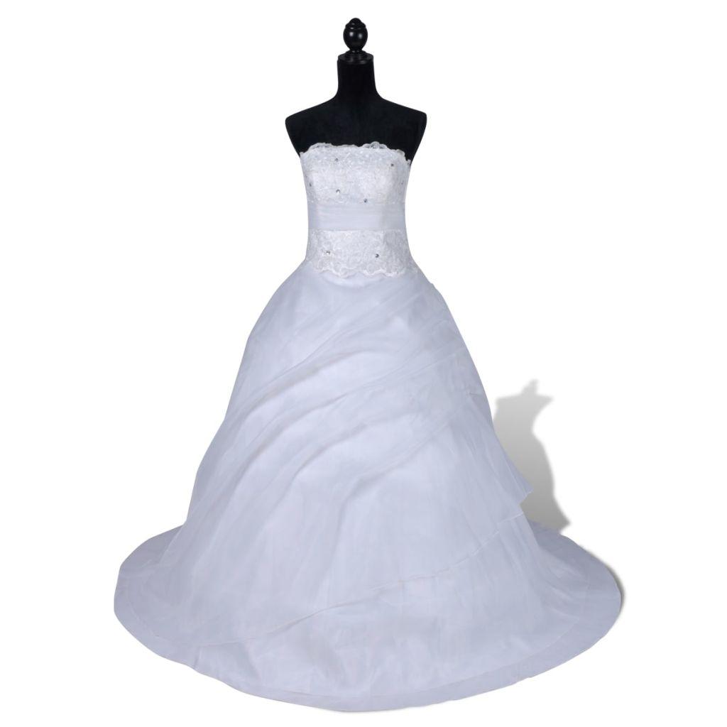 Elegantné biele svadobné šaty model B veľkosť 42