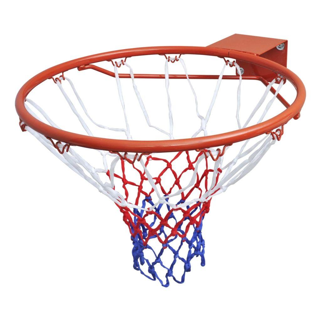 Oranžová basketbalová obrúčka so sieťou