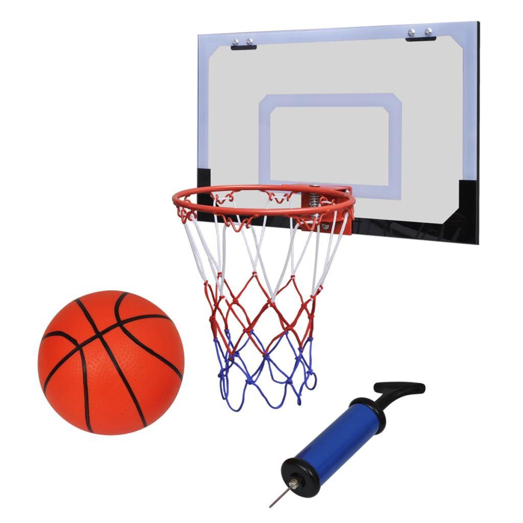 Vnutorný mini basketbalový kôš set s loptou a pumpou