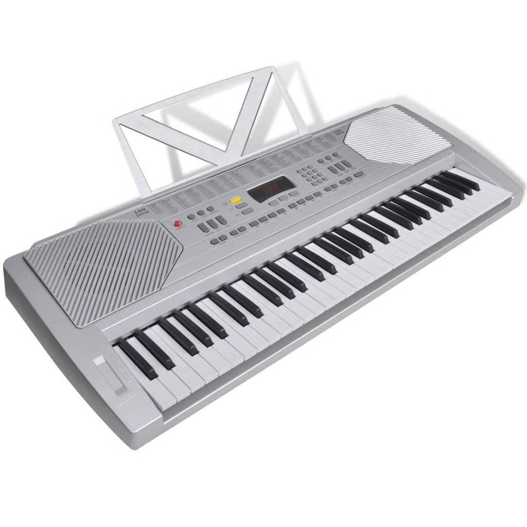 Elektronický keyboard s 61 klávesami so stojanom na noty