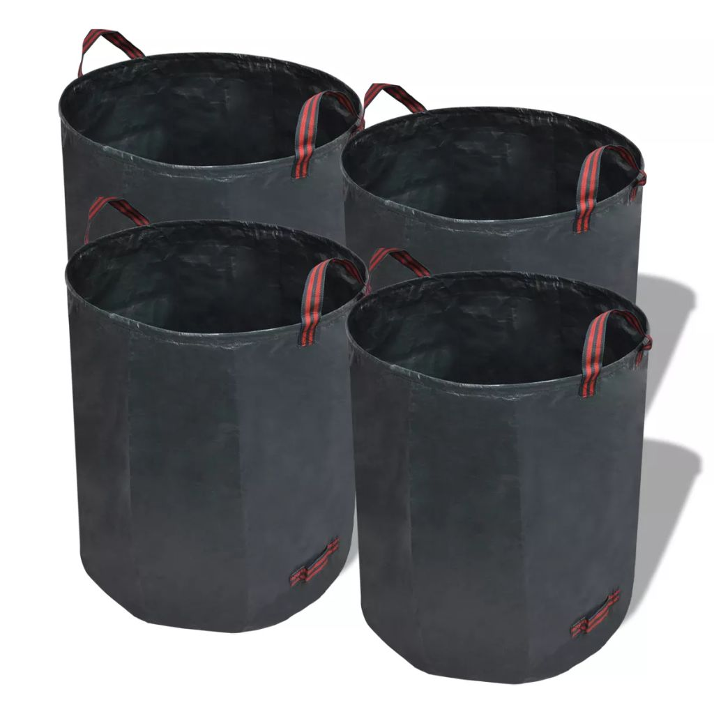 Odpadkový kôš do záhrady, tmavo zelený, 4 ks 272 L 150 g/m2