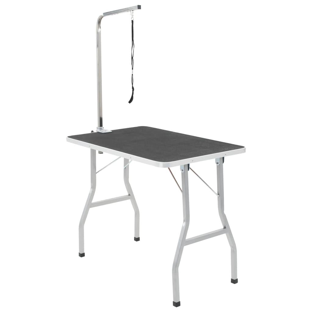 vidaXL Nastaviteľný stôl na úpravu psov/mačiek/domácich zvierat, 1 slučka
