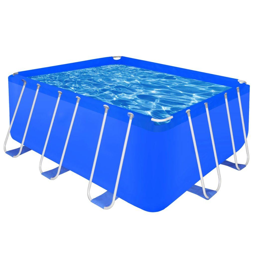 Obdĺžnikový nadzemný bazén 400 x 207 x 122 cm s oceľovým rámom