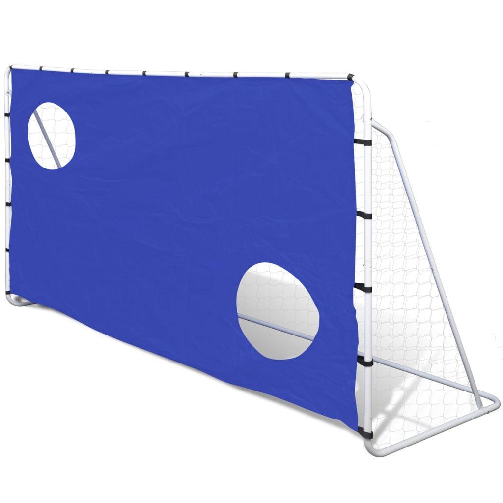 Kvalitná futbalová bránka s otvormi na strieľanie, 240 x 92 x 150 cm