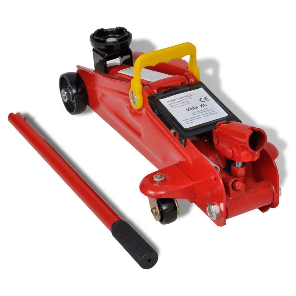 Hydraulický pojazdný podlahový červený zdvihák 2t