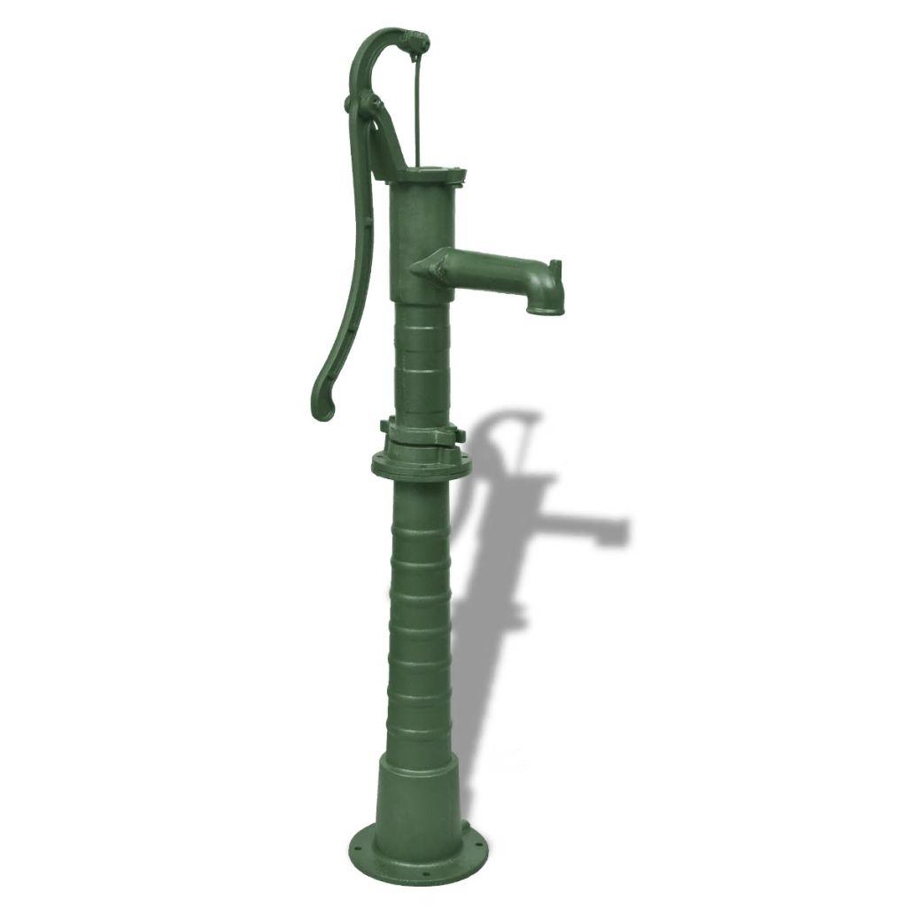 vidaXL Záhradné čerpadlo na vodu s podstavcom, liatina
