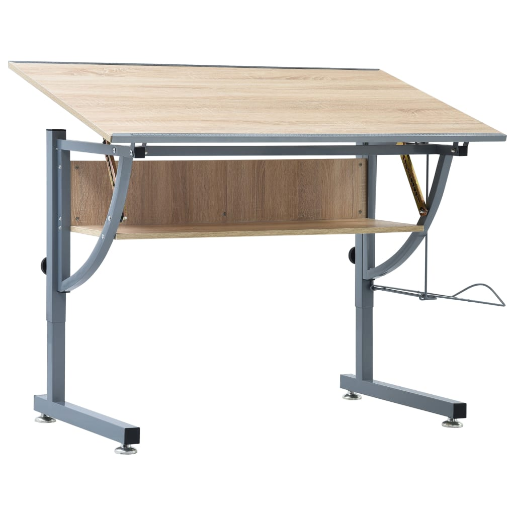 vidaXL Kresliaci stôl pre dospievajúcich dub 110x60x87 cm MDF
