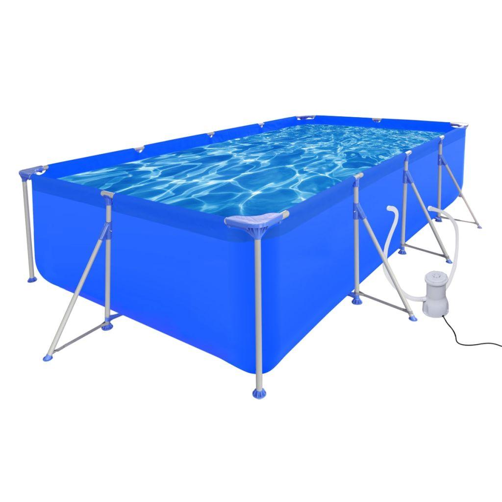 Bazén s filtračným čerpadlom 394 x 207 x 80 cm oceľová konštrukcia