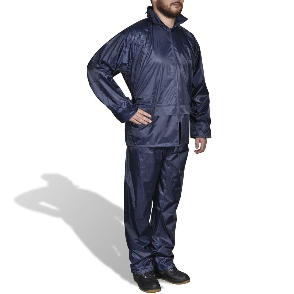Pánsky 2-dielny pršiplášť s kapucňou, XXL, námornícka modrá