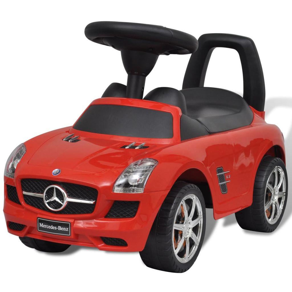 Červené Mercedes Benz detské autíčko na nožný pohon