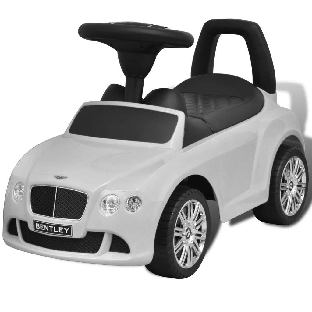 Biele šliapacie autíčko Bentley