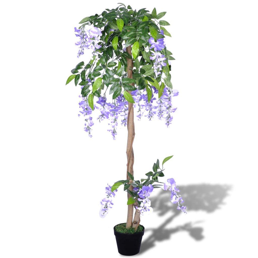 Umelá rastlina v kvetináči, vistéria 120 cm