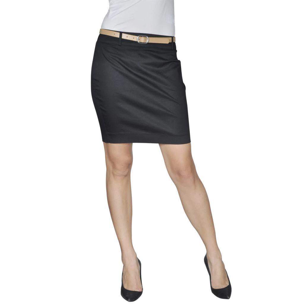 Minisukňa s opaskom, čierna, veľkosť 34