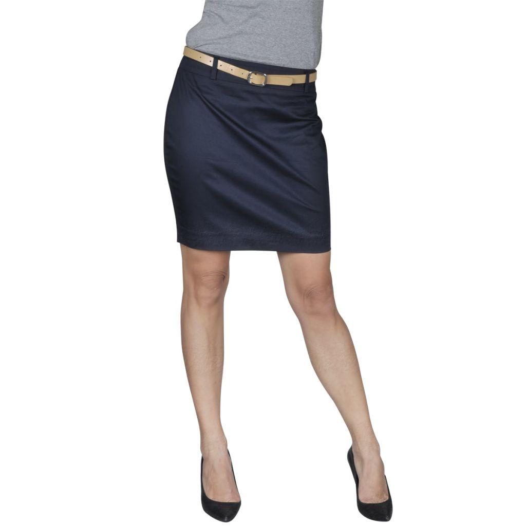 Minisukňa s opaskom, námornícka modrá, veľkosť 34