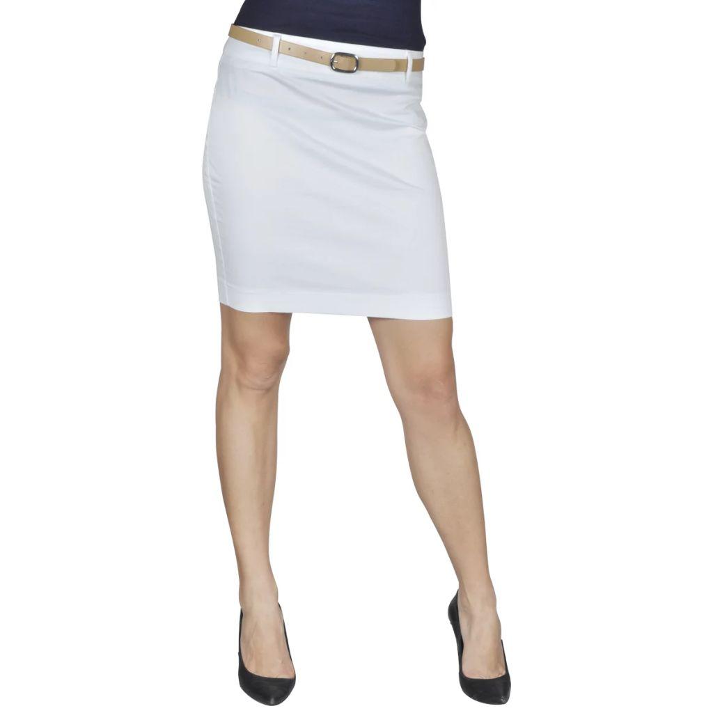 Minisukňa s opaskom, biela, veľkosť 36