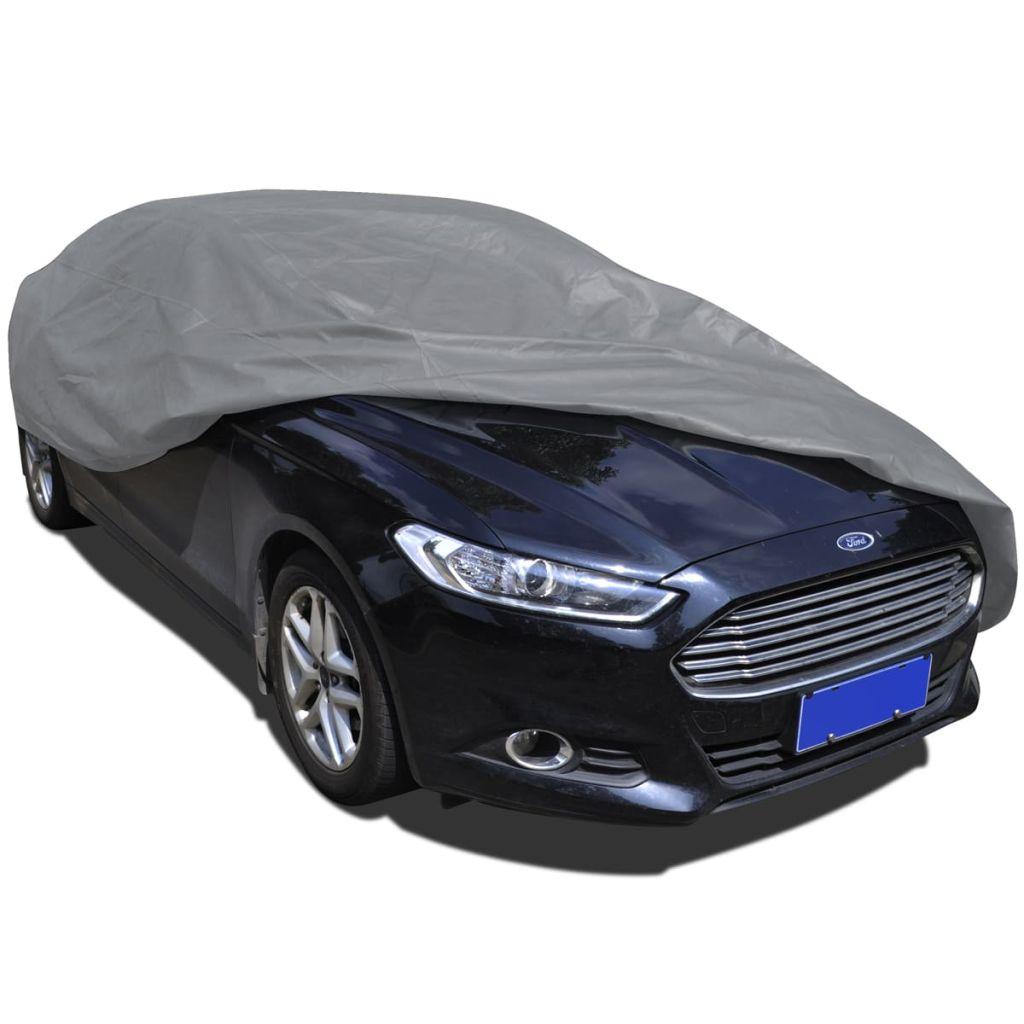 vidaXL Netkaná látková plachta na auto, veľkosť M