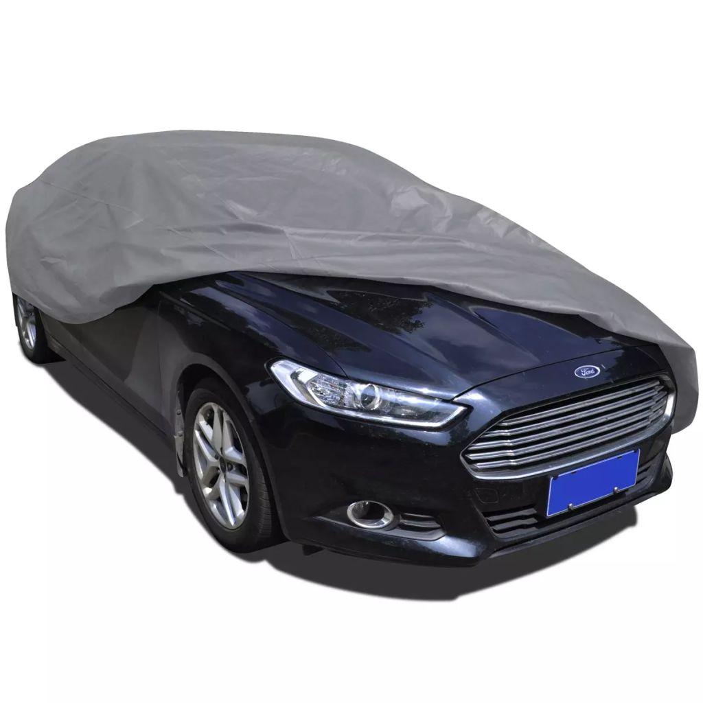 vidaXL Netkaná látková plachta na auto, veľkosť L