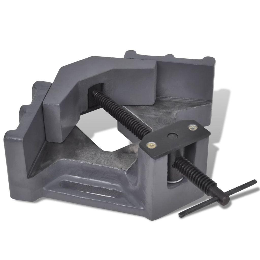 vidaXL Ručne ovládaný rohový zverák na vŕtanie 115 mm