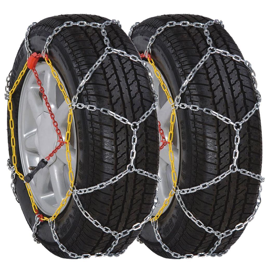 2 ks snehových reťazí na pneumatiky, 12 mm, KN 100