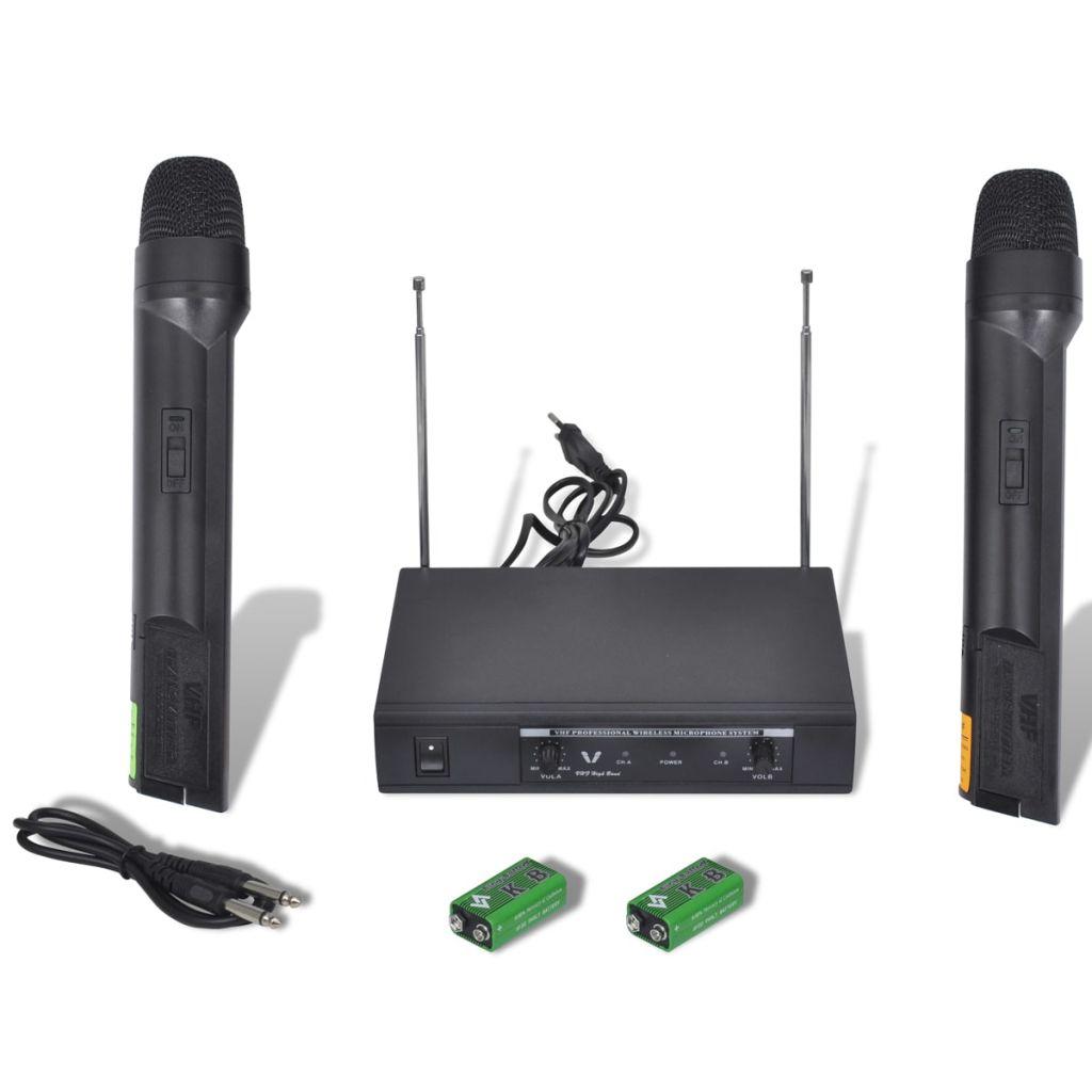 2 bezdrôtové mikrofóny VHF s prijímačom