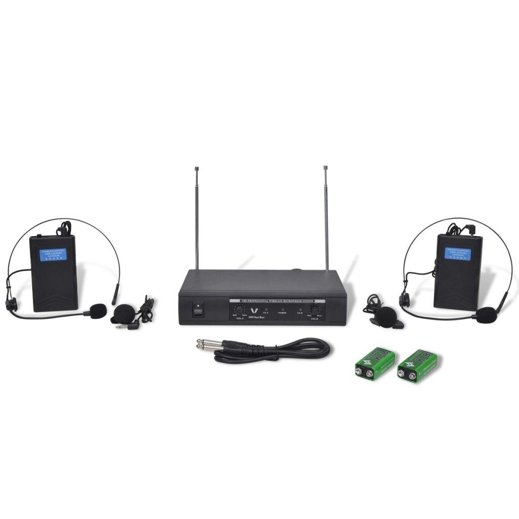 2 bezdrôtové slúchadlá VHF s prijímačom