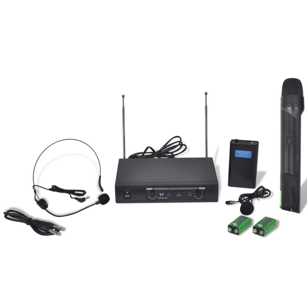 Bezdrôtový mikrofón a bezdrôtové slúchadlá VHF s prijímačom