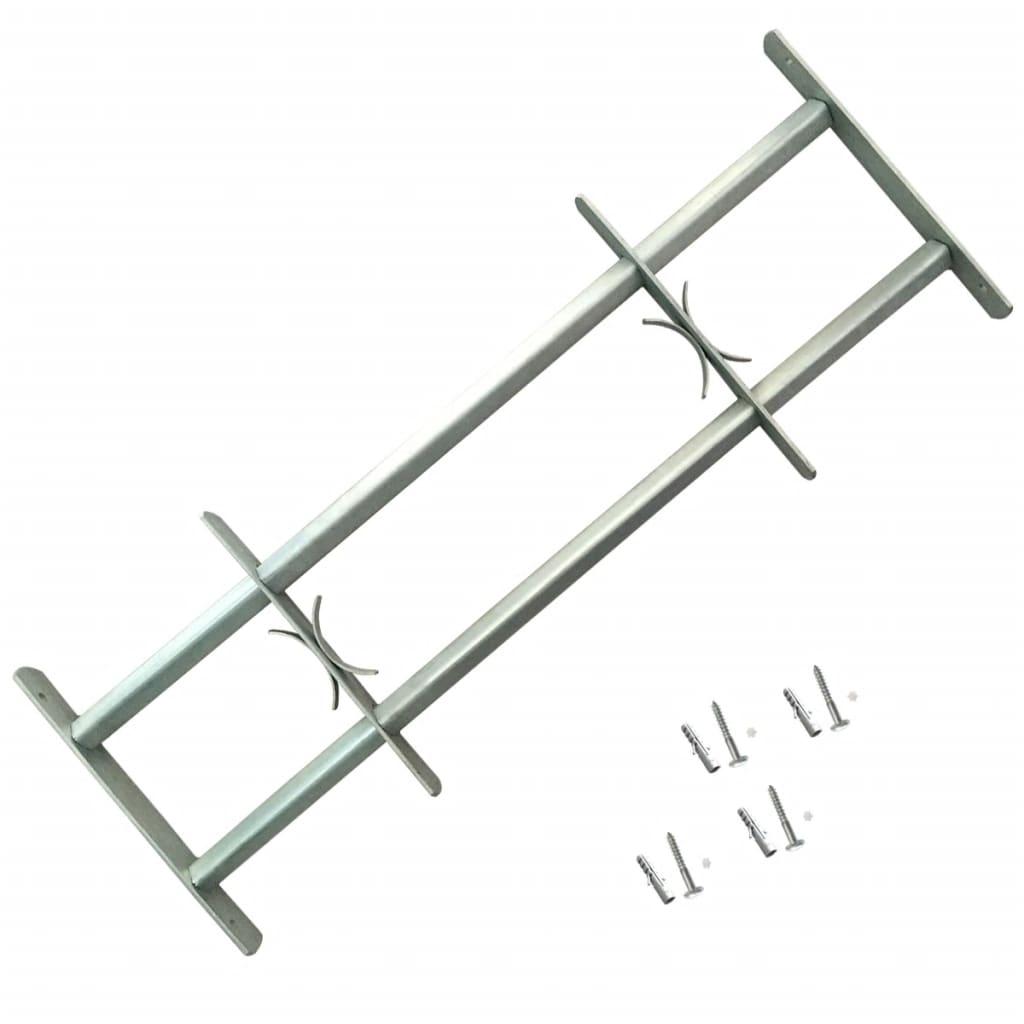 Nastaviteľná bezpečnostná okenná mreža s 2 priečkami 500-650 mm