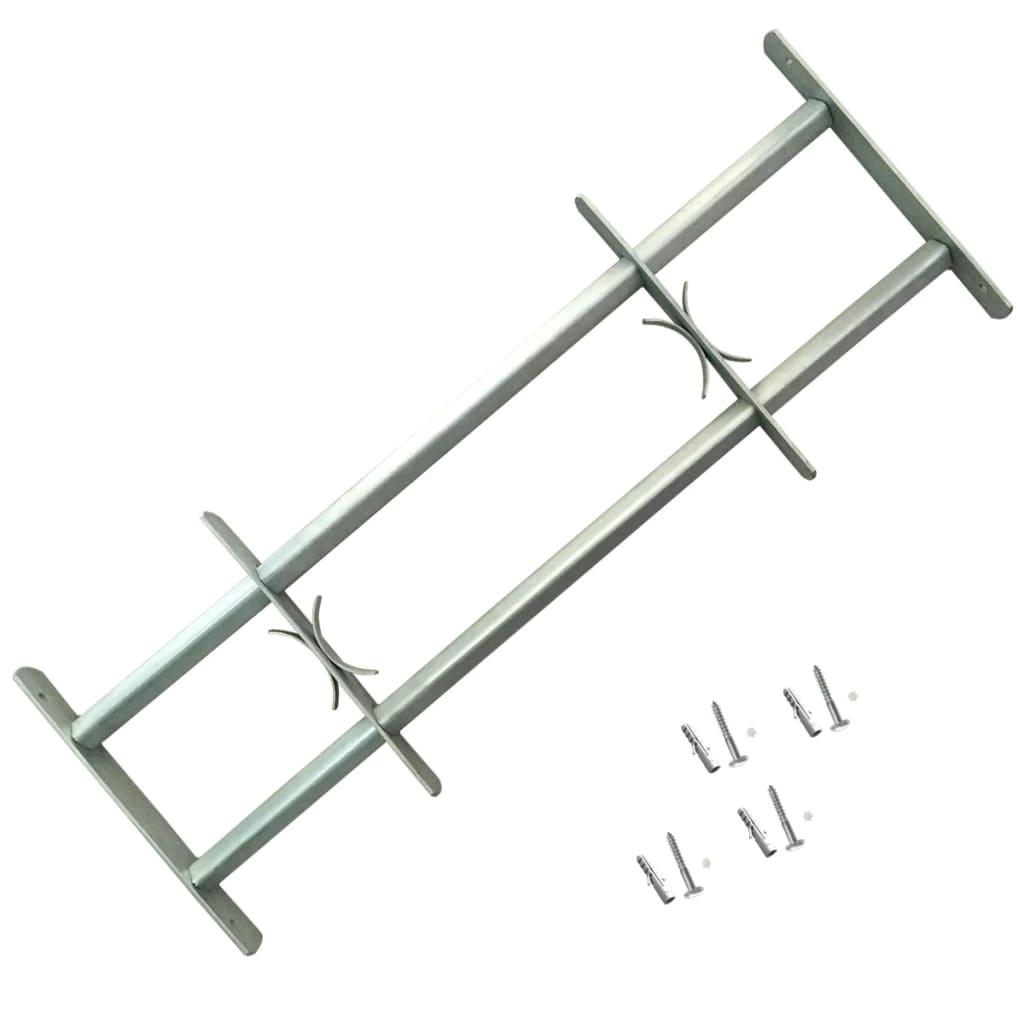 Nastaviteľná bezpečnostná okenná mreža s 2 priečkami 700-1050 mm