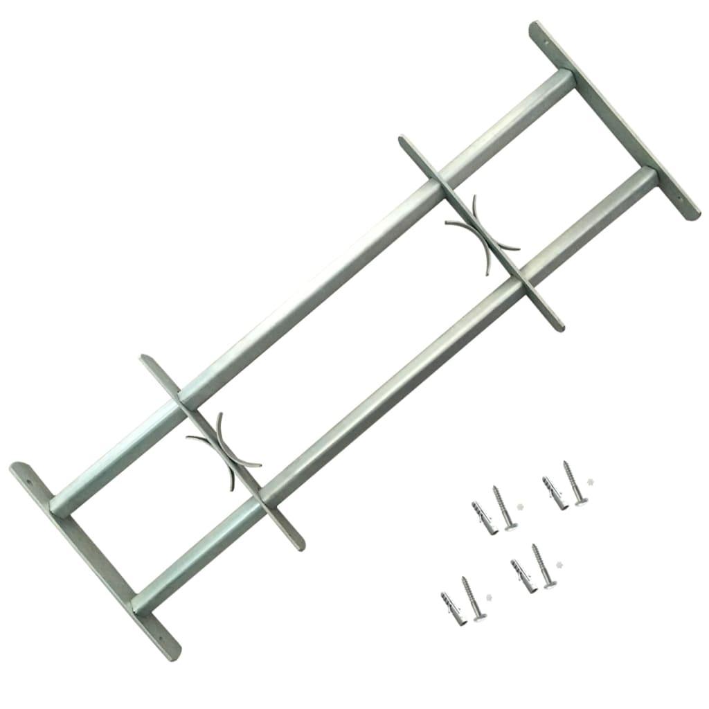 Nastaviteľná bezpečnostná okenná mreža s 2 priečkami 1000-1500 mm