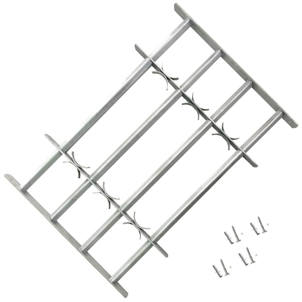 Nastaviteľná bezpečnostná okenná mreža so 4 priečkami 500-650 mm