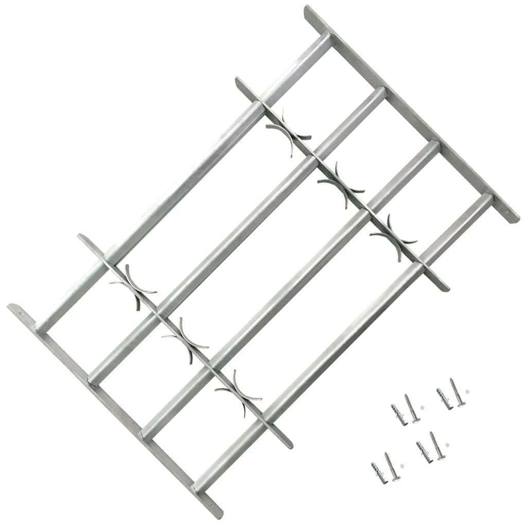 Nastaviteľná bezpečnostná okenná mreža so 4 priečkami 1000-1500 mm