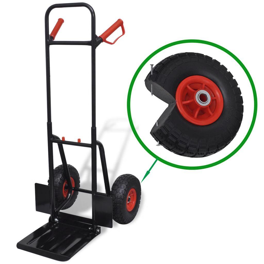 Teleskopický kovový čierno-červený vozík