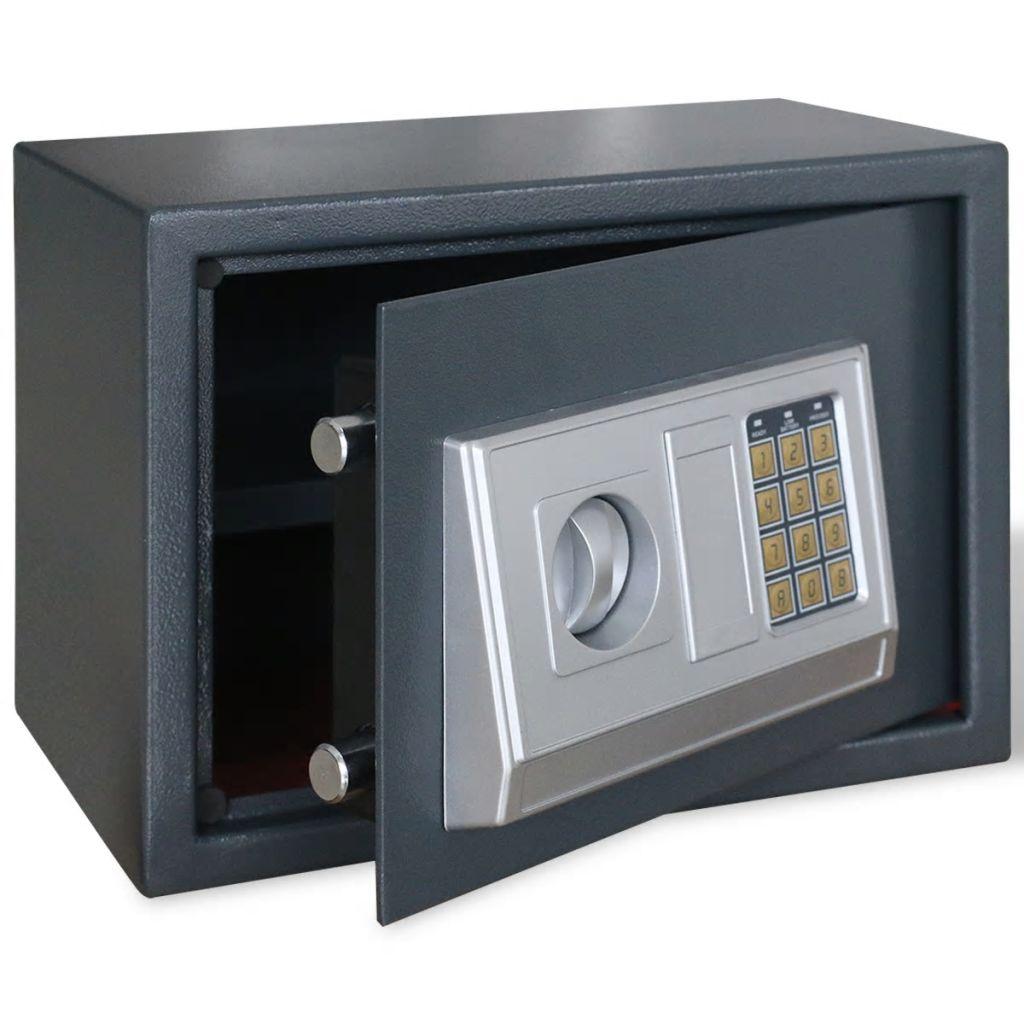 Elektronický digitálny trezor s poličkou 35 x 25 x 25 cm