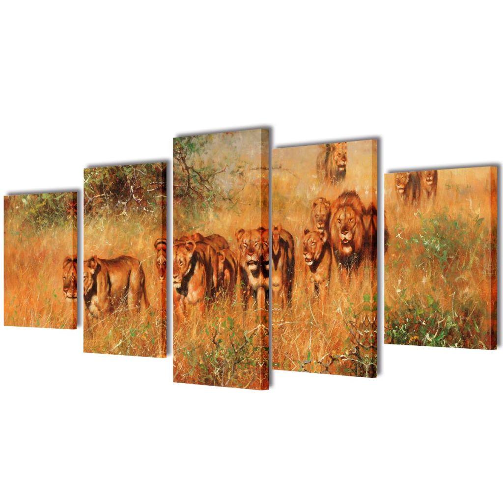 Sada obrazov na stenu, motív Levy 200 x 100 cm