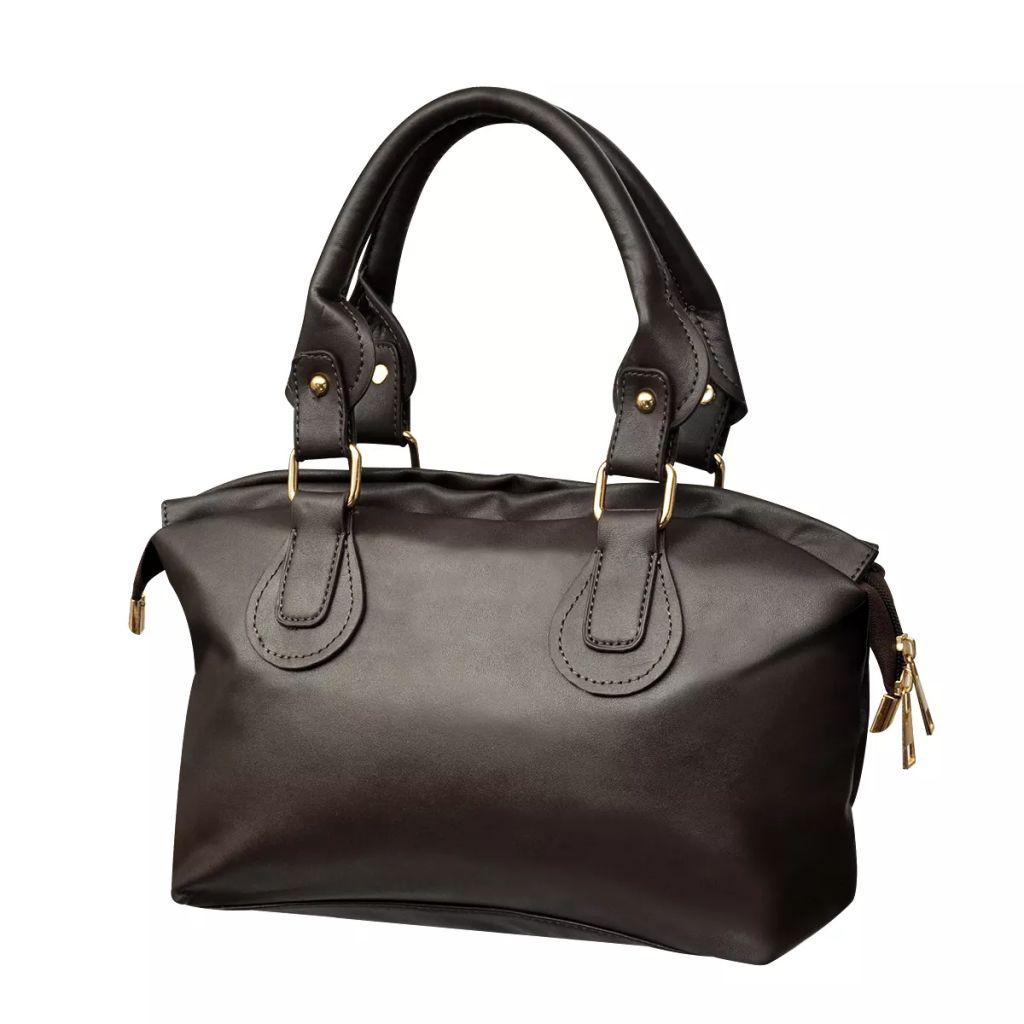 Tmavo hnedá dámska kabelka