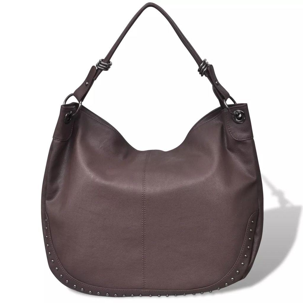 Veľká tmavo hnedá dámska kabelka