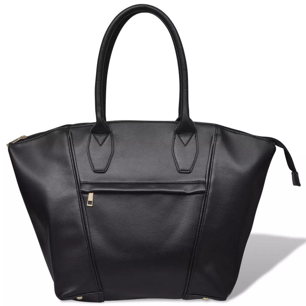 Čierna hranatá dámska kabelka