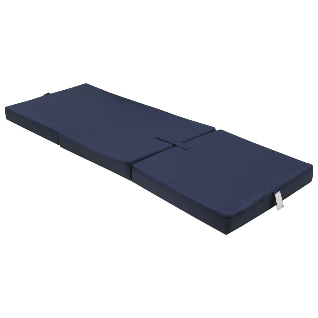 vidaXL Skladací molitanový matrac 190 x 70 x 9 cm, modrý