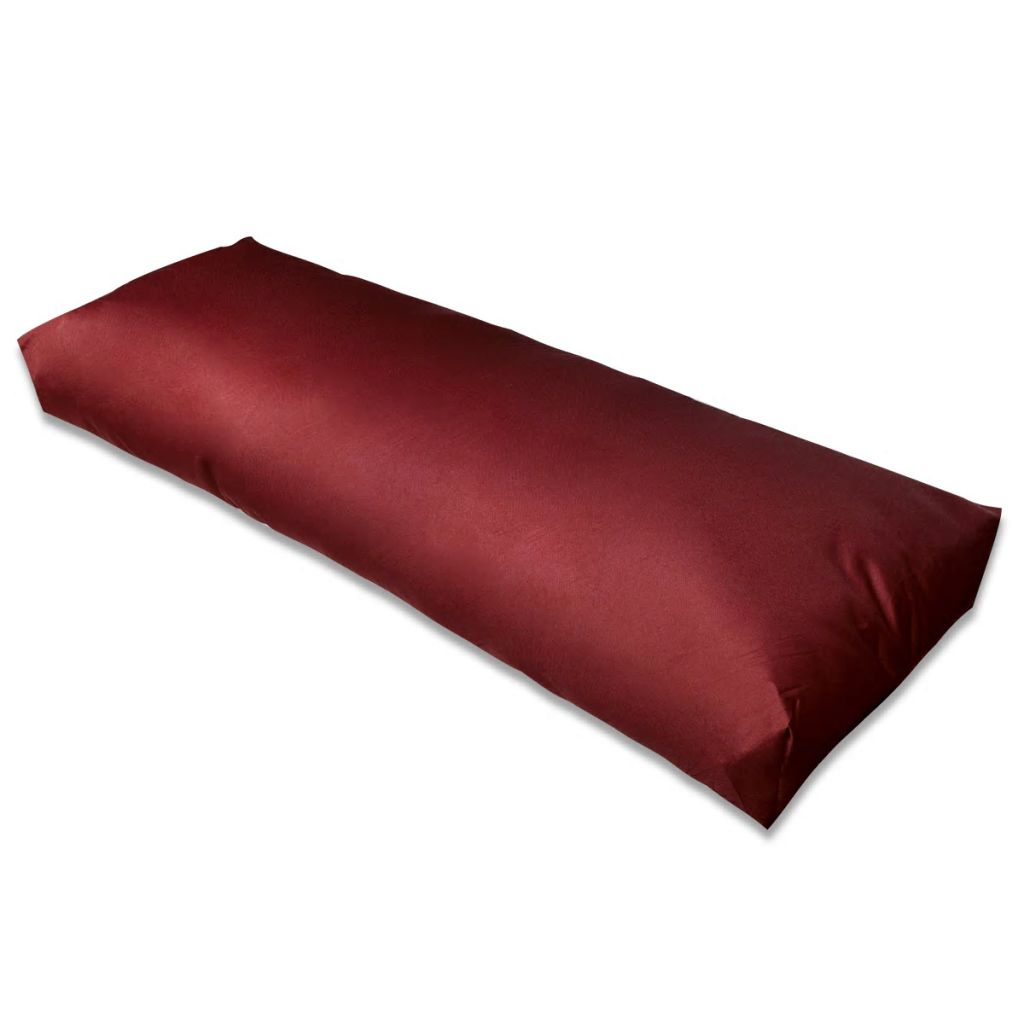 Vínovo červená čalúnená podložka na operadlo 120 x 40 x 20 cm
